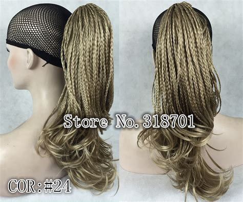 clip on braided pony tails for afro american woman aliexpress com buy golden blonde hand woven long braided
