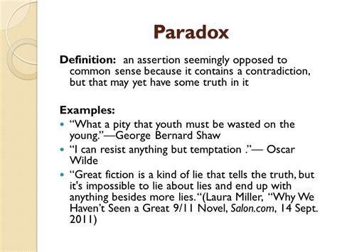 exle of paradox ap language composition ppt