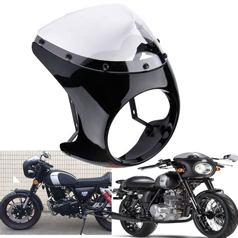 Fairing Universal Model 250 Karbu universal motorcycle 7 quot headlight cafe racer handlebar fairing clear windshield 732140143032 ebay