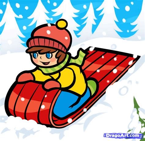 how to a sled how to draw a snow sled step by step stuff seasonal free drawing