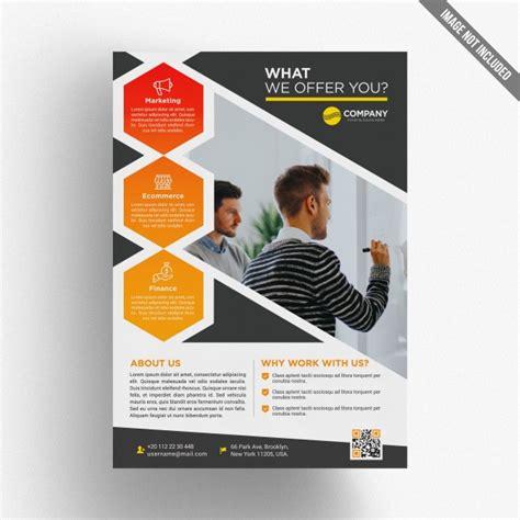 leaflet design psd file colorful business brochure template psd file premium