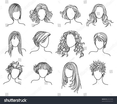 hair style book hairstyles illustration of twelve hairstyles 64147336