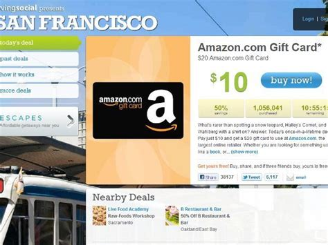 Living Social Gift Cards - livingsocial sells over 1m amazon gift cards vatornews