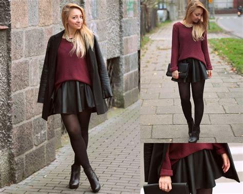 emilia błaszczyk leather skirt lookbook
