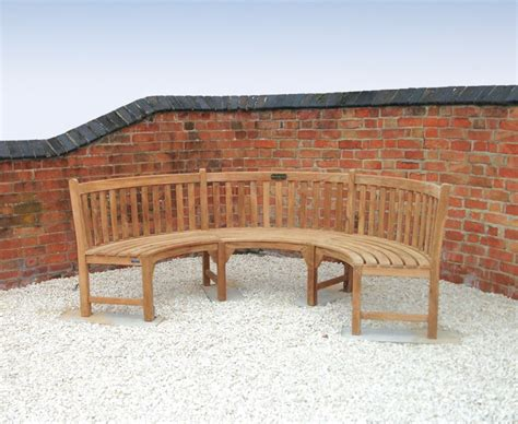 curved teak garden bench henley teak curved garden bench semi circle bench