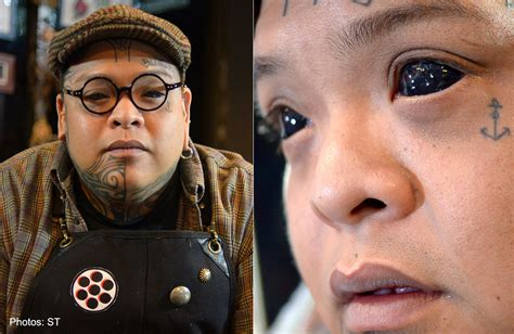 eyeball tattoo chester lee mother freaked out by his eyeball tattoos singapore