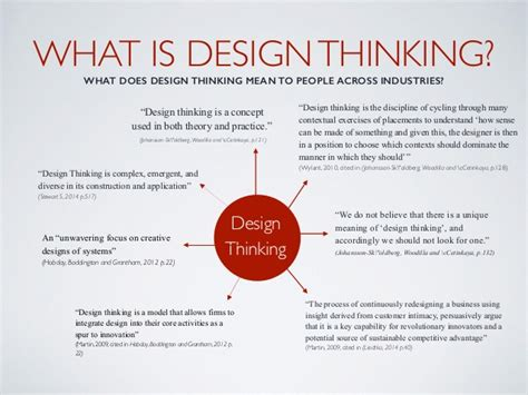 design thinking what is design thinking a critical review