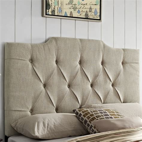 buy padded headboard darby home co martha upholstered panel headboard reviews