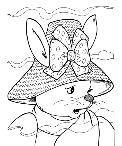 coloring pages easter bonnet free easter bonnet coloring pages