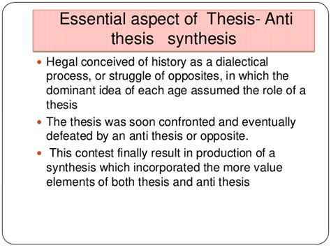 thesis and anti thesis karl marks power point presentation