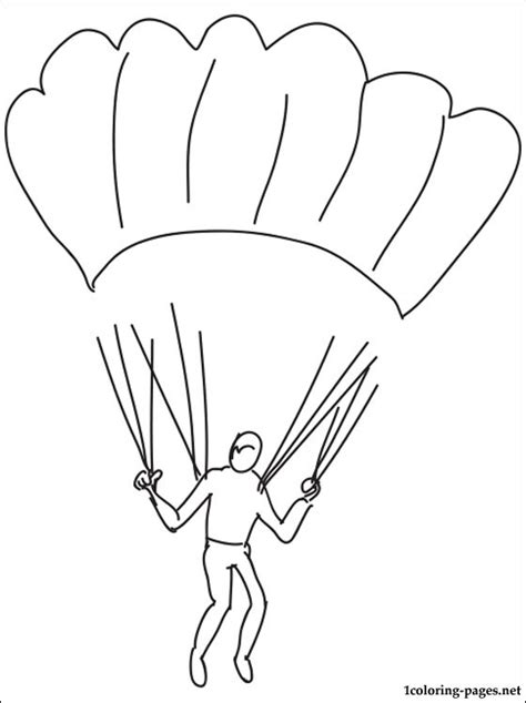 Parachute Coloring Pages To Print Coloring Pages Parachute Coloring Pages