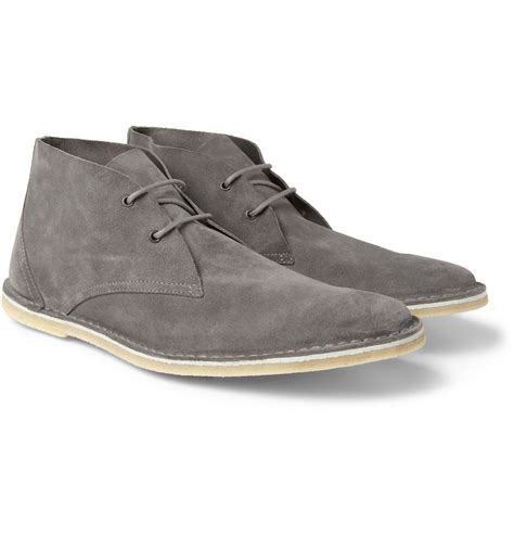 hardy suede chukka boots in gray for lyst