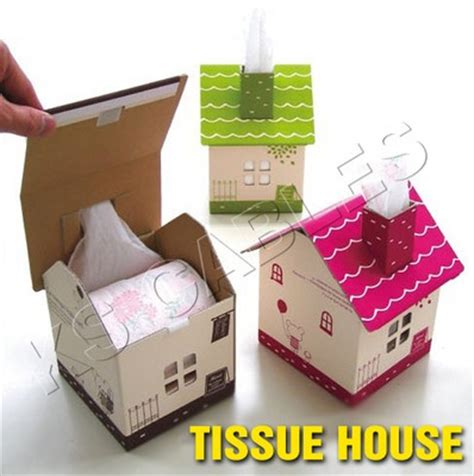 Tissue Paper Box Craft - cardboard paper toilet roll holder and tissue boxes on