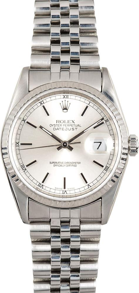 Rolex White rolex datejust 16234 white gold bezel