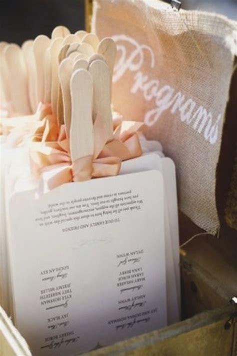 unique wedding program ideas diy wedding invitation ideas