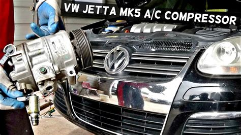 vw jetta mk5 a c compressor replacement vw golf mk5 air conditioner compressor replacement youtube how to remove the a c compressor on vw jetta mk5 ac compressor youtube