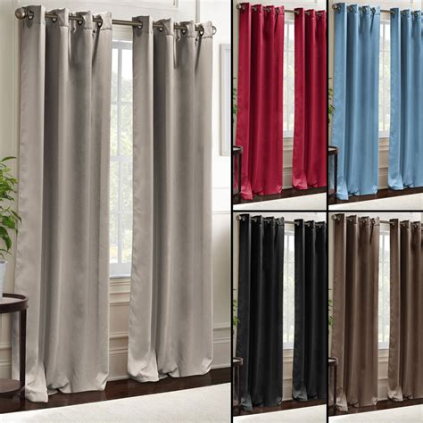 grommet curtains ebay blackout curtains grommet window panel pair 38 quot x84 quot room
