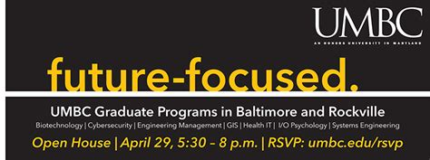 Umbc Mba Program by Umbc To Host A Professional Graduate Programs Open House