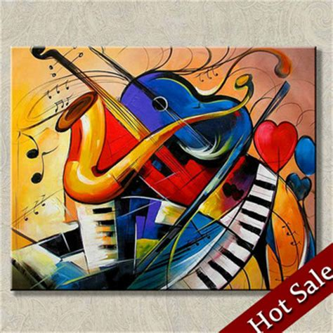Wholesale Western Home Decor by Surrealist Painting Abstract Art Music Theme High Quality