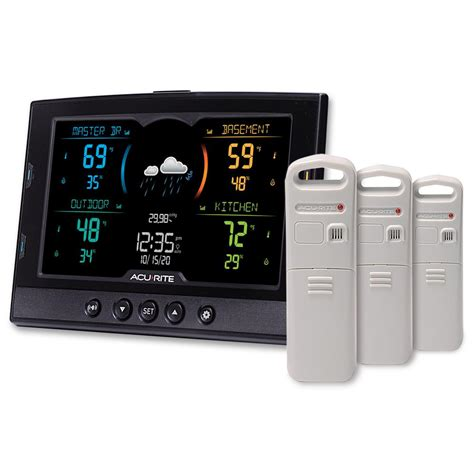 acurite temperature and humidity weather station with 3