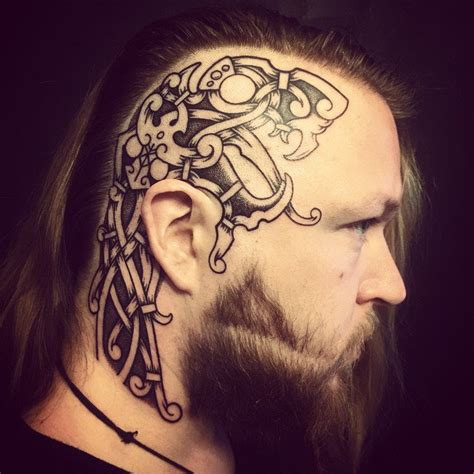 did ragnar have tattoos on his head last year pin viking warrior head tattoo on leg tattoosso on pinterest