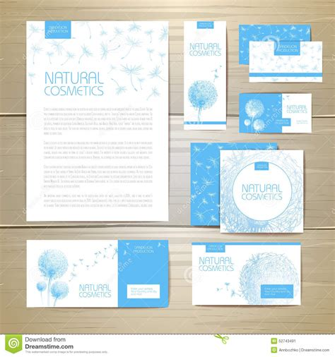 document layout templates flower dandelion cosmetics concept design corporate