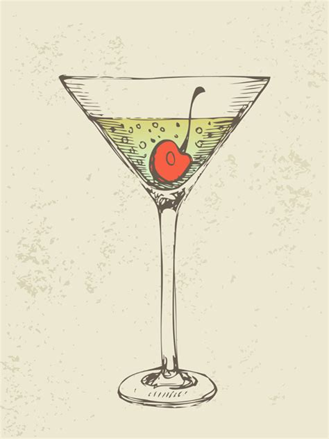 retro cocktail retro cocktail design vector set 07 vector food free