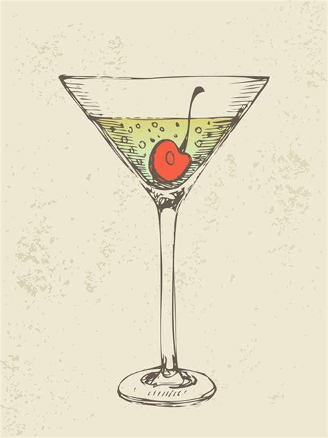 retro cocktail retro cocktail design vector set 07 vector food free