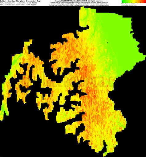 maryland map elevation free talbot county maryland topo maps elevations