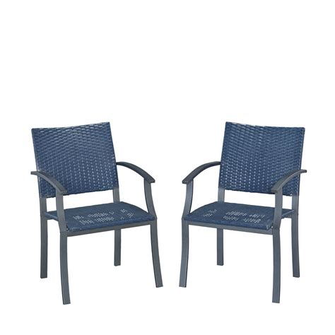 Blue Patio Chairs Blue Outdoor Arm Chair Set Of 2 Home Styles Furniture Chairs Patio Chairs Outdoor
