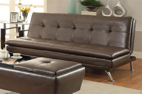 Brown Leather Sofa Beds Poundex Duvis F7848 Brown Leather Sofa Bed A Sofa Furniture Outlet Los Angeles Ca