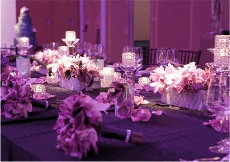 purple wedding decorations purple wedding reception table ideas
