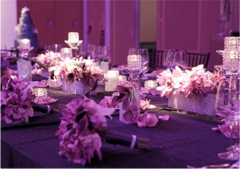 purple pink theme bridal wedding shower party ideas purple wedding decorations for romantic look of wedding