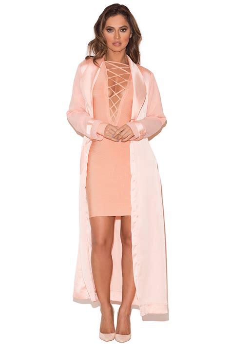 Blush On Silky clothing jackets coryn blush silky duster coat