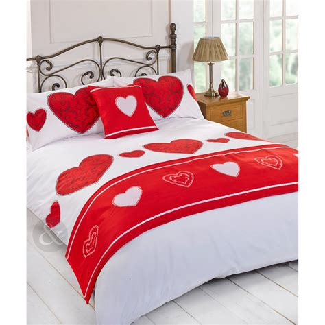 heart bedding vintage love heart complete bed set printed duvet cover