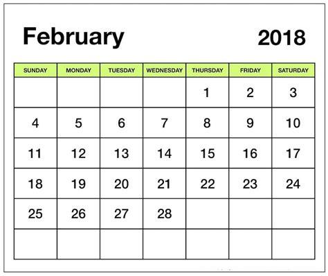 printable february 2018 calendar pdf february 2018 printable calendar pdf free pictures on greepx