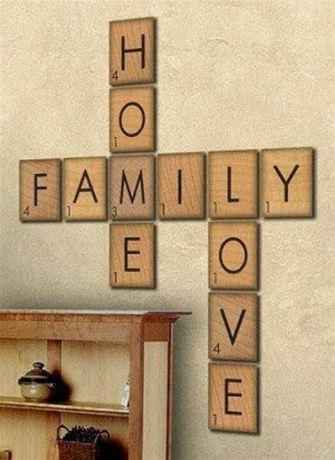 scrabble signs scrabble home family signs