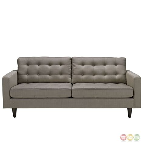 tufted upholstered sofa empress contemporary button tufted upholstered sofa granite