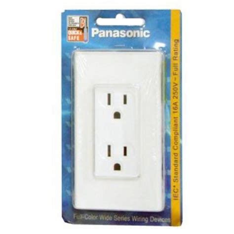 Plate Panasonic Color Wide Series Wej7823w panasonic receptacle duplex w ground w plate const ph