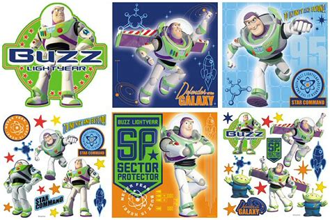 buzz lightyear wall stickers story buzz lightyear decorating kit