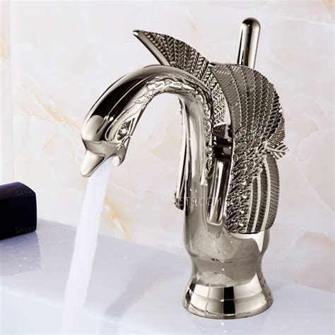 designer sinks bathroom designer swan shape silver bathroom sink faucets 98 99