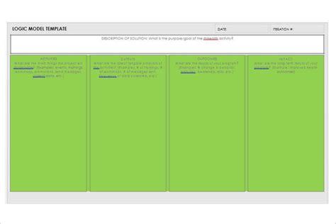 logic model template microsoft word 47 logic model templates free word pdf documents