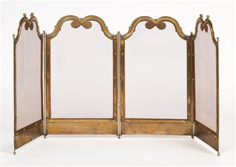 antique solid brass firescreen for sale at 1stdibs