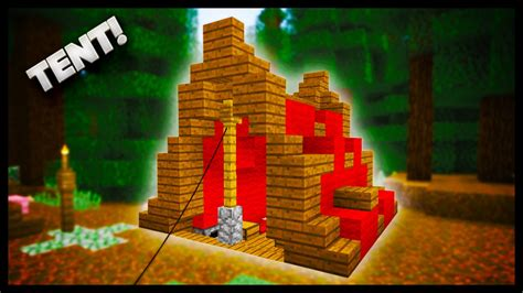 how to build a tent minecraft how to make a tent