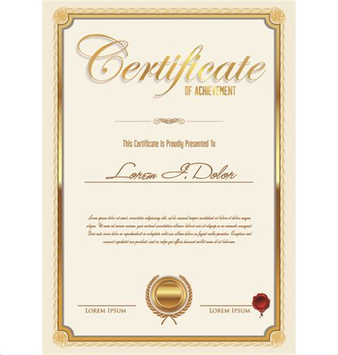 design certificate vector vector template certificates design graphics free vector