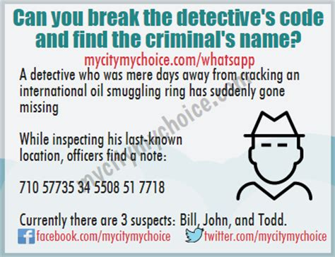 Can You Be A Pi With A Criminal Record Can You The Detective S Code And Find The Criminal S