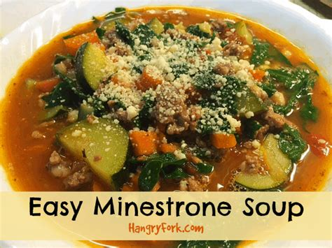easy minestrone soup recipe hangry fork