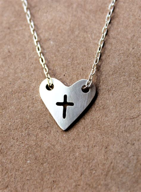 Handmade Silver Necklaces - handmade silver cross necklace sterling silver