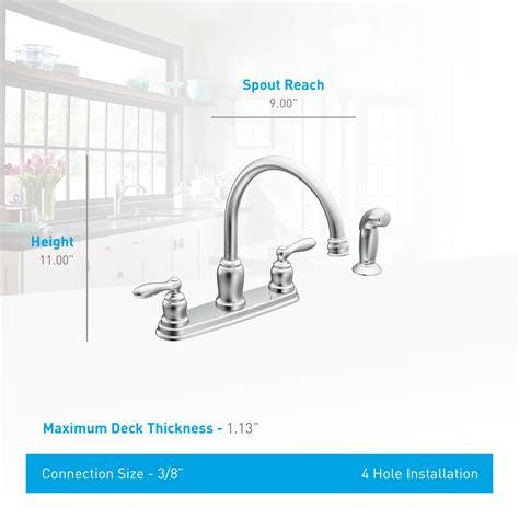 Kitchen Faucet Hole Size hole size moen kitchen faucet kitchen counter width