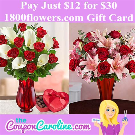 1800flowers Gift Card - 30 1800flowers com gift card for just 12 the coupon caroline